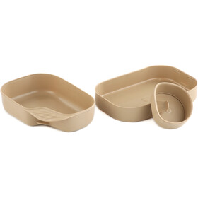 Wildo Camp-a-box Dinner Set Basic, sand